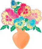 Blumenstrauß von Viola Lizenzfreie Stockfotos