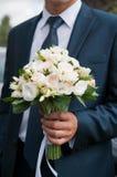 Blumenstrauß von weißen Blumen Stockfotografie