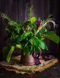 Blumenstrauß von wohlriechenden Kräutern Stockfotos