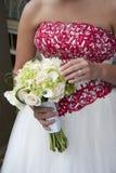 Blumenstrauß-Weiß Stockfotos