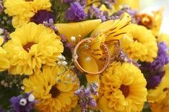Blumenstraußchrysanthemen Lizenzfreie Stockfotos