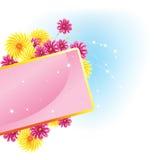 Blumenstraußeinladung stock abbildung