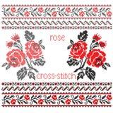 Blumenstraußkreuzstichstickerei Lizenzfreie Stockbilder
