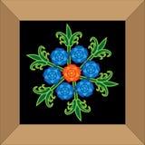 Blumenstraußreihe Königinvektor Stockbilder
