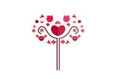Blumenstraußsymbol Lizenzfreies Stockfoto
