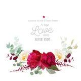 Blumenstraußvektor-Designkarte des eleganten Herbstes horizontale Lizenzfreies Stockfoto