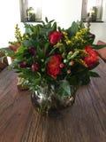 Blumenstrau? bl?ht Rosen stockfotografie