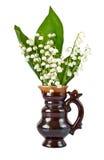 Blumenstrauß der Lilien des Tales Stockbilder