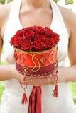 Blumenstrauß der roten Rosen Lizenzfreie Stockfotos