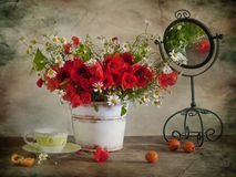 Blumenstrauß mit maquis Lizenzfreie Stockfotos