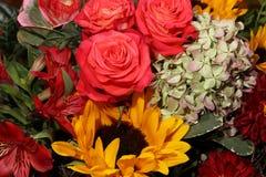 Blumenstrauß von frischen Sommer-Blumen Stockbilder