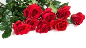 Blumenstrauß von roten Rosen Stockfoto