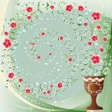Blumenstrudelhintergrund lizenzfreie abbildung