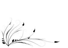 Blumenstrudelverzierung Stockfotos