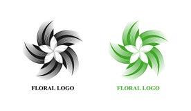 Blumensymbol, Zeichen, Logo, Emblem, Ikone stockfoto