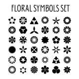 Blumensymbolsatz vektor abbildung