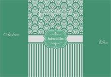 Blumentürkis-und Silber-Einladung Backgroud Lizenzfreies Stockbild