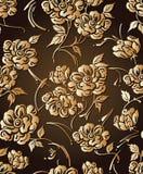 Blumentapete des nahtlosen goldenen Designers Stockbilder