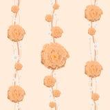 Blumentapete ist für ein Kinderzimmer Stockfotografie