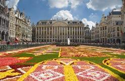 Blumenteppich in Brüssel 2010 Stockbild