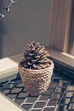 Blumentopf auf dem Hintergrund Lizenzfreies Stockfoto