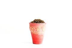 Blumentopf mit Muster Lizenzfreie Stockfotos