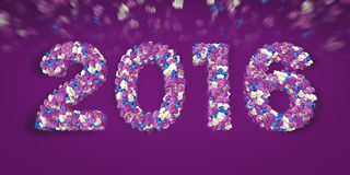 Blumentypo 2016 Stockbild