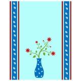 Blumenvasenkarte Lizenzfreies Stockfoto