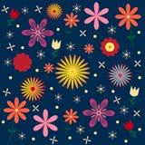 Blumenvektor-Muster nahtlos Lizenzfreies Stockbild