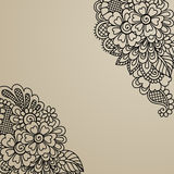 Blumenvektor-Verzierungsecke Lizenzfreies Stockfoto