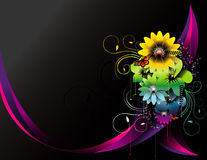 Blumenvektoraufbau Lizenzfreies Stockfoto