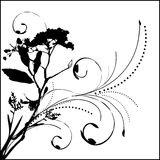 Blumenvektorelement Lizenzfreie Stockfotos