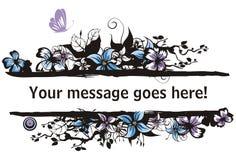Blumenvektorfeldserie Lizenzfreie Stockbilder