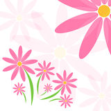 Blumenvektorhintergrund Stockbilder