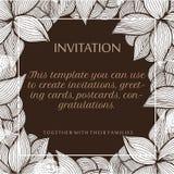 Blumenvektorillustration für Einladungsdesign Lizenzfreies Stockbild