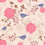Blumenvektornahtloses Muster stock abbildung