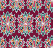 Blumenvektornahtloses Muster Ethnischer endloser Hintergrund Stockfoto
