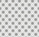 Blumenvektorschwarzweiss-Konturnbeschaffenheit, nahtlos Stockbild