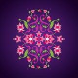 Blumenverzierung in der orientalischen Art Stockbilder