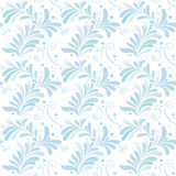 Blumenverzierung des weißen und blauen Winters Lizenzfreies Stockfoto