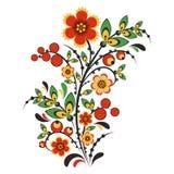 Blumenverzierung in Hohloma-Art Russische Folklore Lizenzfreie Stockbilder