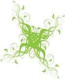 Blumenverzierung im Grün Stockbilder