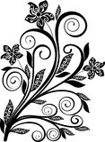 Blumenverzierung - Vektor Stockbilder