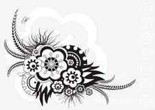 Blumenverzierung, vektorabbildung Lizenzfreie Stockbilder