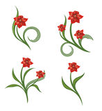 Blumenverzierungen 2 Lizenzfreies Stockfoto