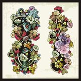 Blumenverzierungen in der russischen traditionellen Art Lizenzfreie Stockfotos