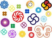 Blumenverzierungfarben Stockbild