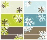 BlumenVisitenkarten Lizenzfreie Stockbilder