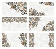 Blumenvisitenkartesatz Stockbild