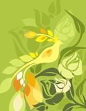 Blumenvogel-Hintergrund-Serie lizenzfreie abbildung